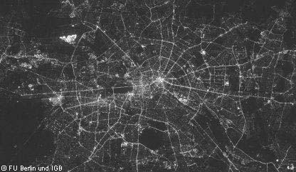 Berlin by night - resolution of 20m, 2010